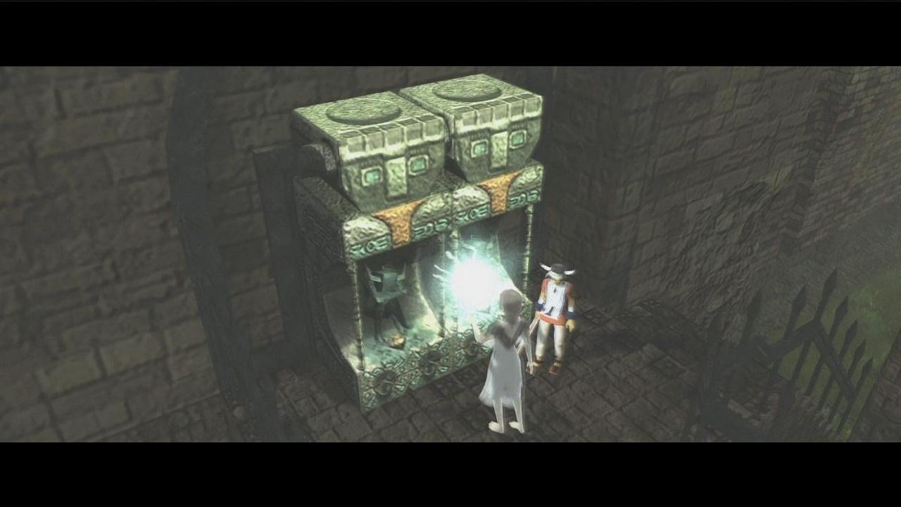 Yorda bruker sine evner til å aktivere en lukket dør