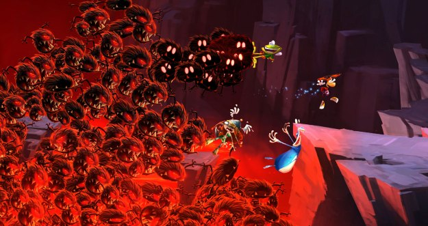Pictured: Rayman and crew barely escaping GTA V