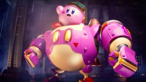 Also, it has Kirby in a mech suit.